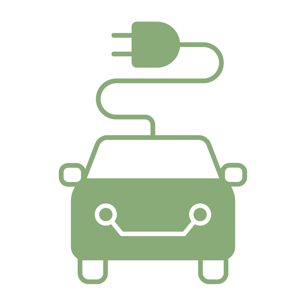 Electric Car Charging Icon